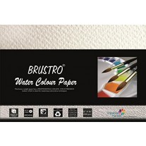 "Brustro Watercolour Papers 300 GSM 12"" X 16"" (Pack of 6 Sheets)"