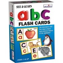 Creative Educational Aids Pre-School - See and Learn Alphabet Flash Cards (0504)