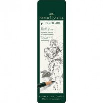 Faber Castell Graphite pencil Castell 9000 (Tin of 6)