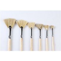 Long Handle Hog Hair Fan Painting Brushes (Available in 6 Different Sizes)