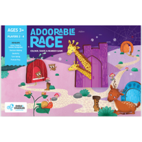 Chalk & Chuckles Adoorable Race Color Shape And Number Game (CCPPL036)