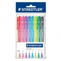 Staedtler Ball Point Pens Pack of 8 Assorted Colours (423 35PB6)