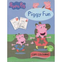 Scholars Hub Peppa Pig Piggy Fun Blue Copy Colouring Book