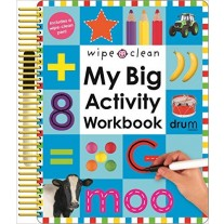 Wipe Clean: My Big Activity Workbook (My Big Step by Step) with White Board Marker by Roger Priddy