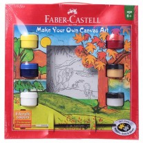 Faber-Castell Gift Pack Make Your Own Canvas Kit (Forest)