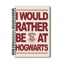 Harry Potter Wiro Notebook of I Would Rather Be At Hogwarts A5 Licensed By Warner Bros,USA