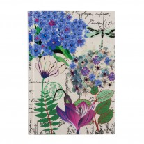 Botanical Cerise Queen Hard Case Cover Paper Notebook 7″×5″ Inches (B6)