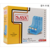 Saya Magazine & File Rack+Desk Organiser Sy-115 (Pack Of 6)