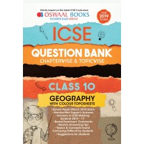 Oswaal ICSE Question Bank Chapterwise Geography for Class 10 (2019)