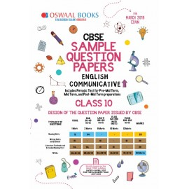 Oswaal CBSE English Communicative Sample Question Papers for Class 10 (2019)