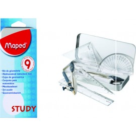 Maped Geometry Box Study 9 Pcs. Set (119020)