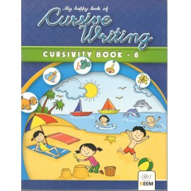 Reem My Happy Book of Cursive Writing Cursivity Book for Class 6