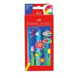 Faber-Castell Oil Pastel Colors 15 Shades (123015)