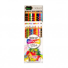 Doms Groove Colour Pencils (12 Shades)