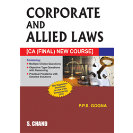 S Chand Corporate and Allied Laws (CA Final New Course)