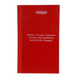 Writeaway Register of Loan Guarantee, Security, and Acquistion Made By The Company (MBP-2)Hard Bound ( Act 2013) Pages-96
