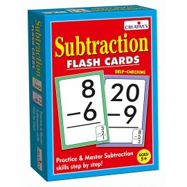 Creative Educational Aids Early Years - Subtraction - Flash Cards