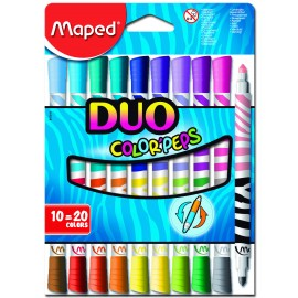 Maped Colour Peps Dou Felt Tips 20 Colours 12 Shades (847010)