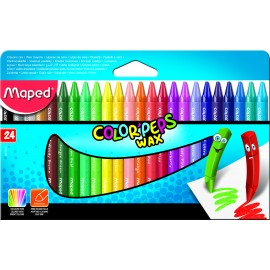 Maped Colour Peps Wax Crayons 24 Shades (861013)