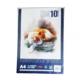 Anupam Watercolour Sheets (Size A4) 300GSM (Pack of 10 Sheets)