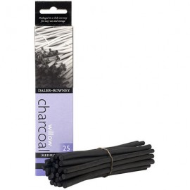 Daler Rowney Willow Charcoal Medium 25 Sticks