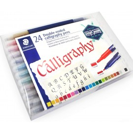 Staedtler Double Ended Calligraphy Pens Assorted Colours (Pack of 24) 3.5mm