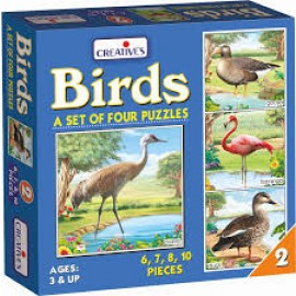 Creative Educational Aids Early Years -Birds 2 – A set of 4 puzzles