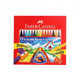 Faber-Castell Erasable Crayons (15 Shades) 110mm