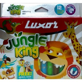 Luxor Jungle King Colouring Pen Set Assorted Pack