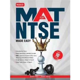 MTG MAT for NTSE Made Easy for Class 10 by Sunil Palia Jitesh Vohra (2020)