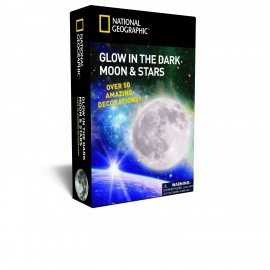 National Geographic Plastic Glow in The Dark Moon and Stars
