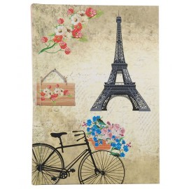 Romantic Bicycle Hard Case Cover Paper Notebook 6″X4″ Inches (A6)