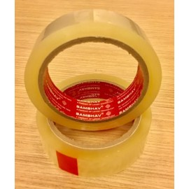 "Sambhav Tape Clear 1"" (Length 60 Meters) Single Piece"