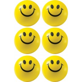 Smiley Face Squeeze Ball-Set of 12 Pcs (Yellow)