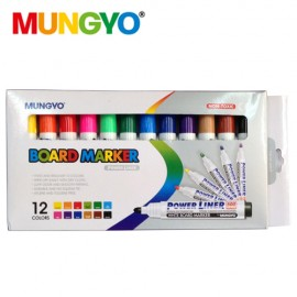 Mungyo White board Marker (12 Assorted Colours)