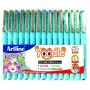 Artline Yoodle 0.4 mm Fine pen  (Pack of 15 Set)